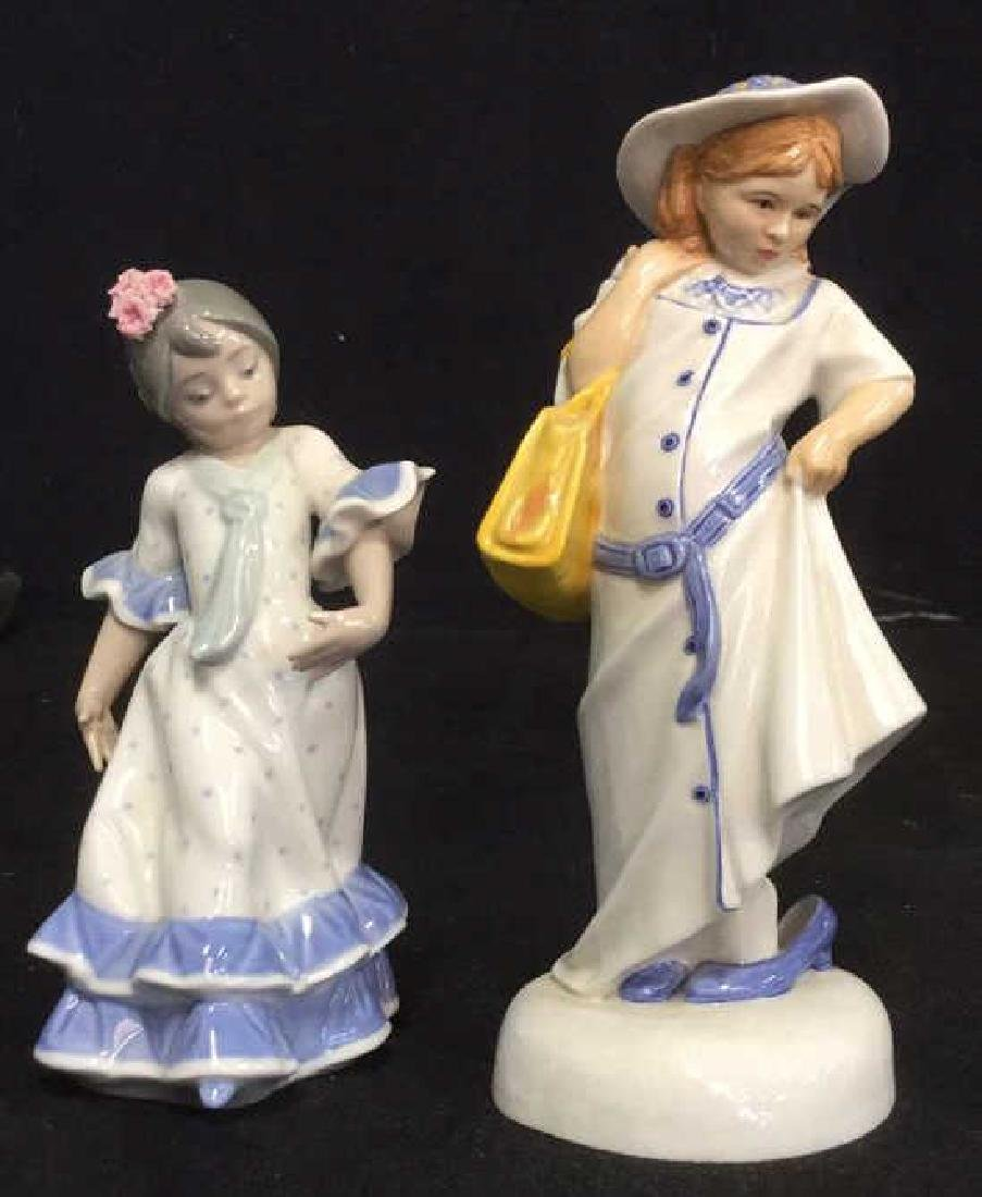 Lot 2 Royal Doulton And Lladro Porcelain Figurals