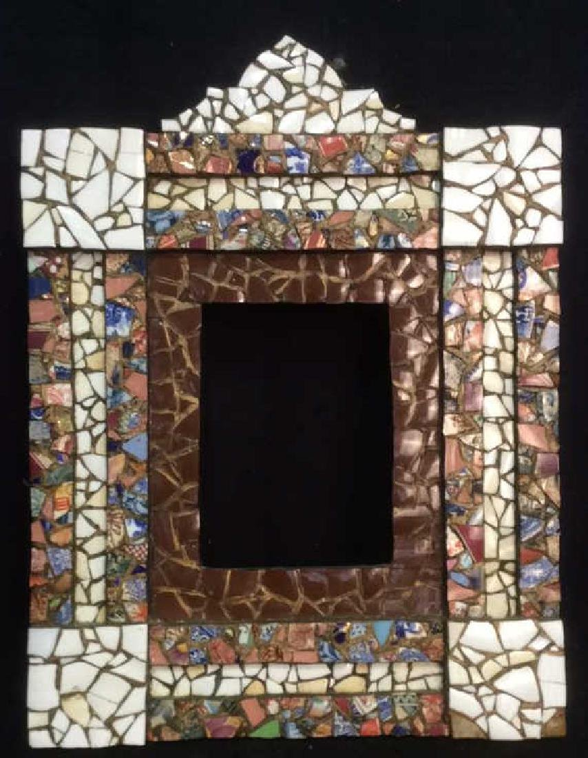 Intricately carved and pieced Mosaic Frame