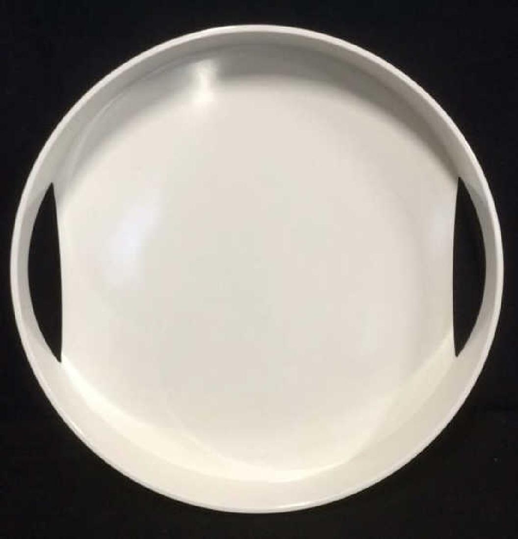 Circular White Melamine Serving Tray