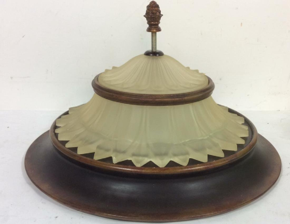 Vintage Frosted Glass Metal Ceiling Lamp Shade