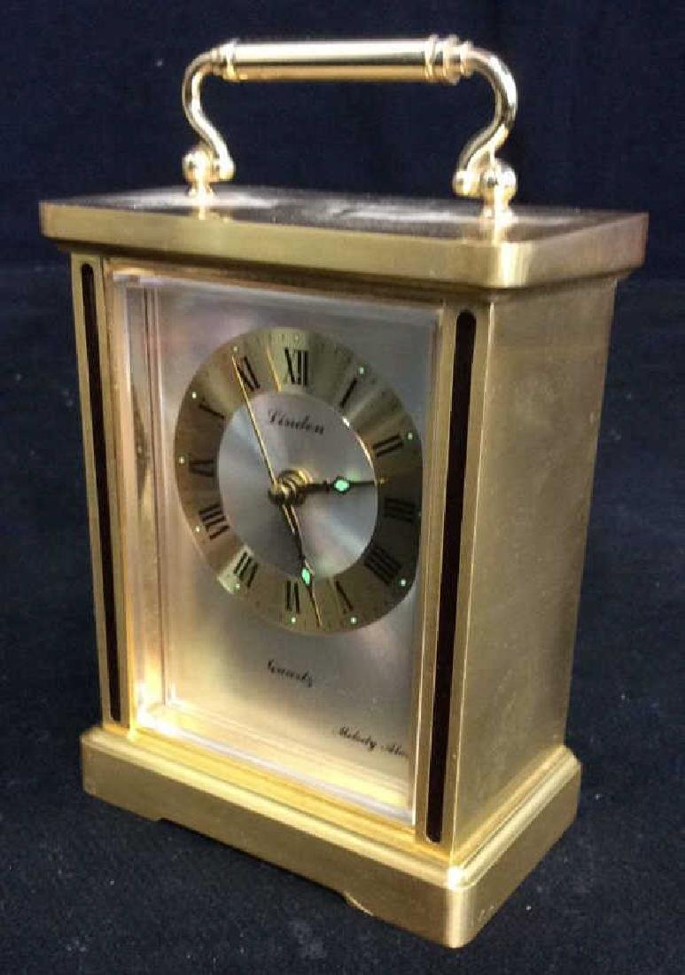 Linden Brass Carriage Clock