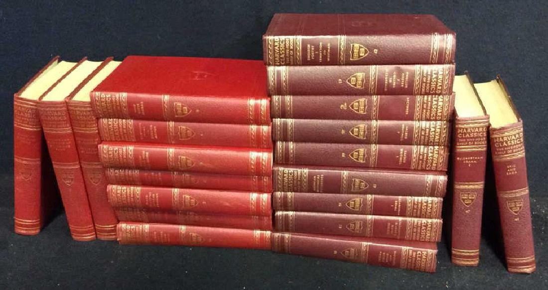 Group Red and Maroon Leather Bound Books 21