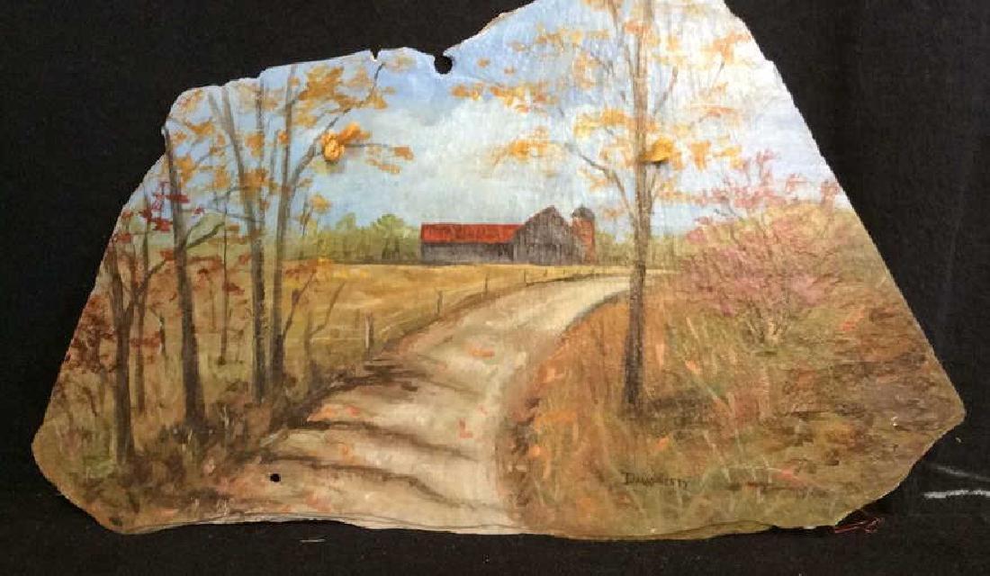 Folk Art Painting on Slate, Dougherty