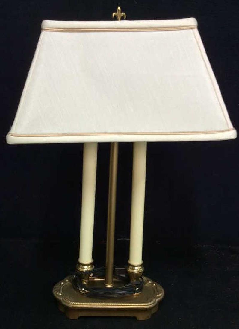 Gold Toned Candlestick Style Lamp
