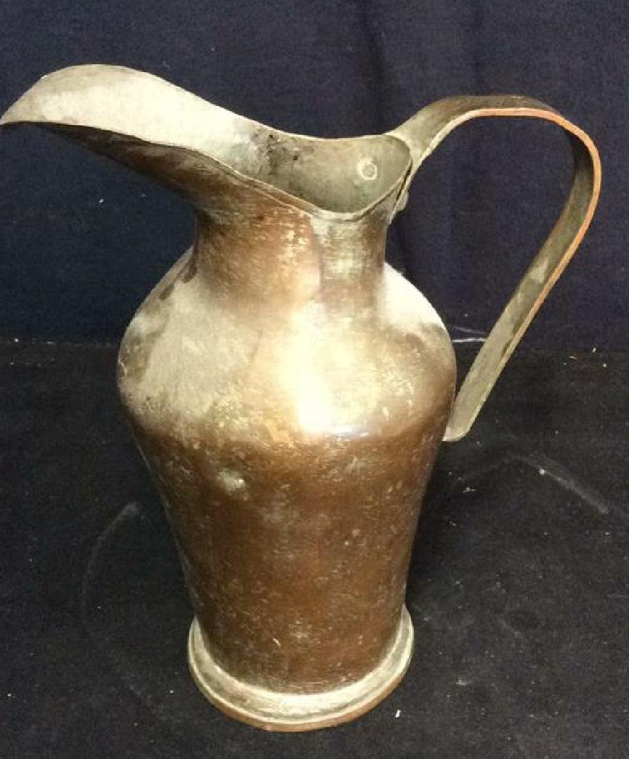 Antique Hand Formed Copper Pitcher