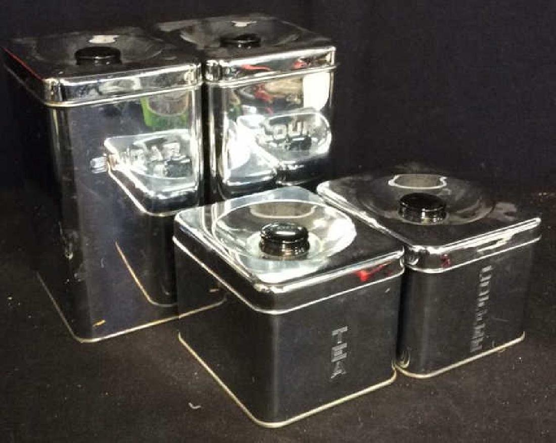Set 4 Lincoln Beautyware Vintage Cannisters