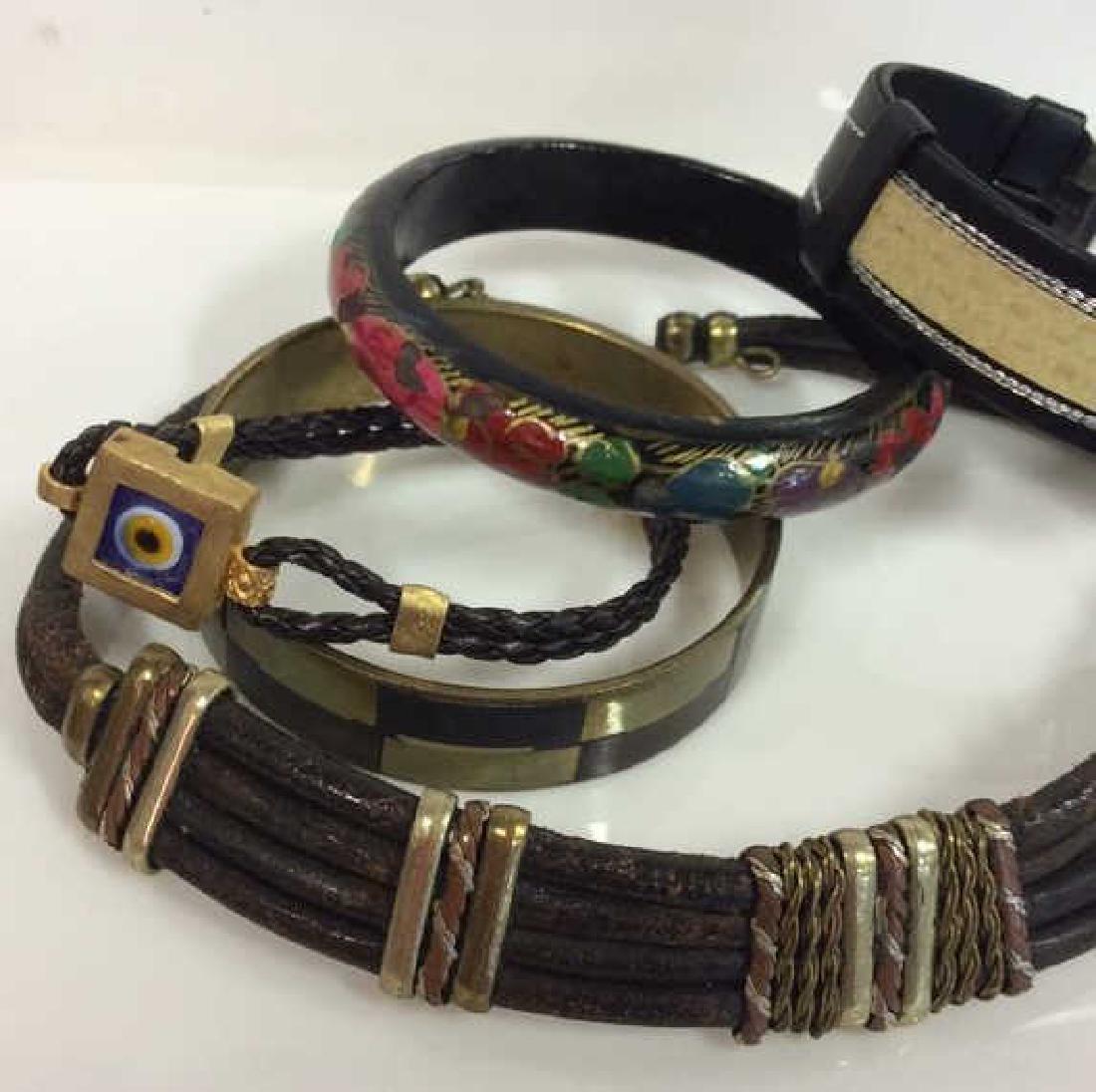 Lot 5 Assorted Bracelets W Necklace Jewelry