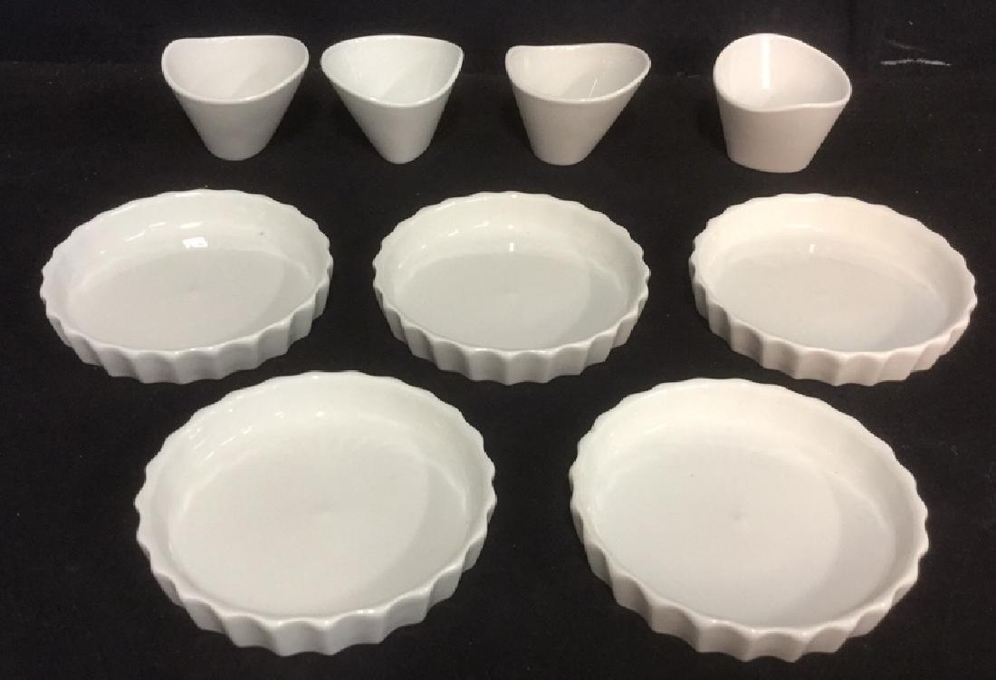 Lot 9 Apilco Porcelain Quiche & Ramekin Dishes