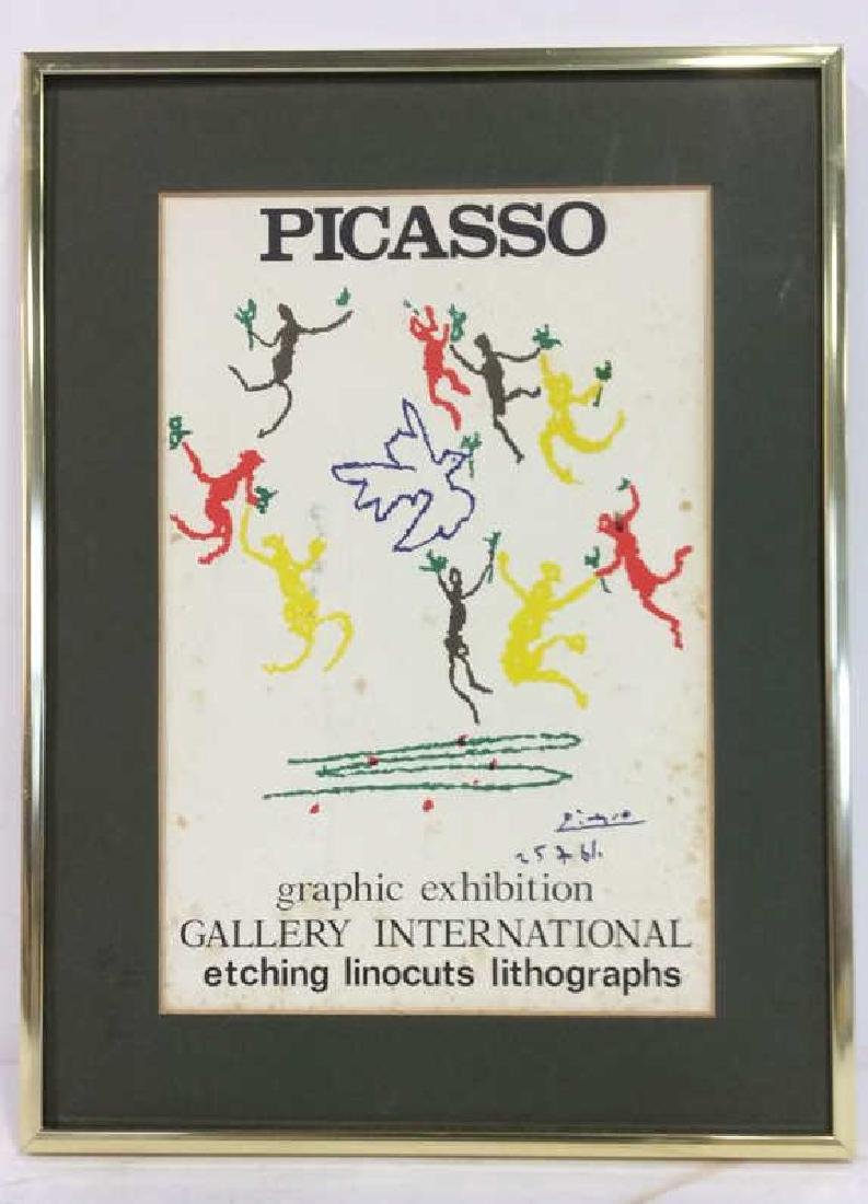 Framed Picasso Exhibition Poster