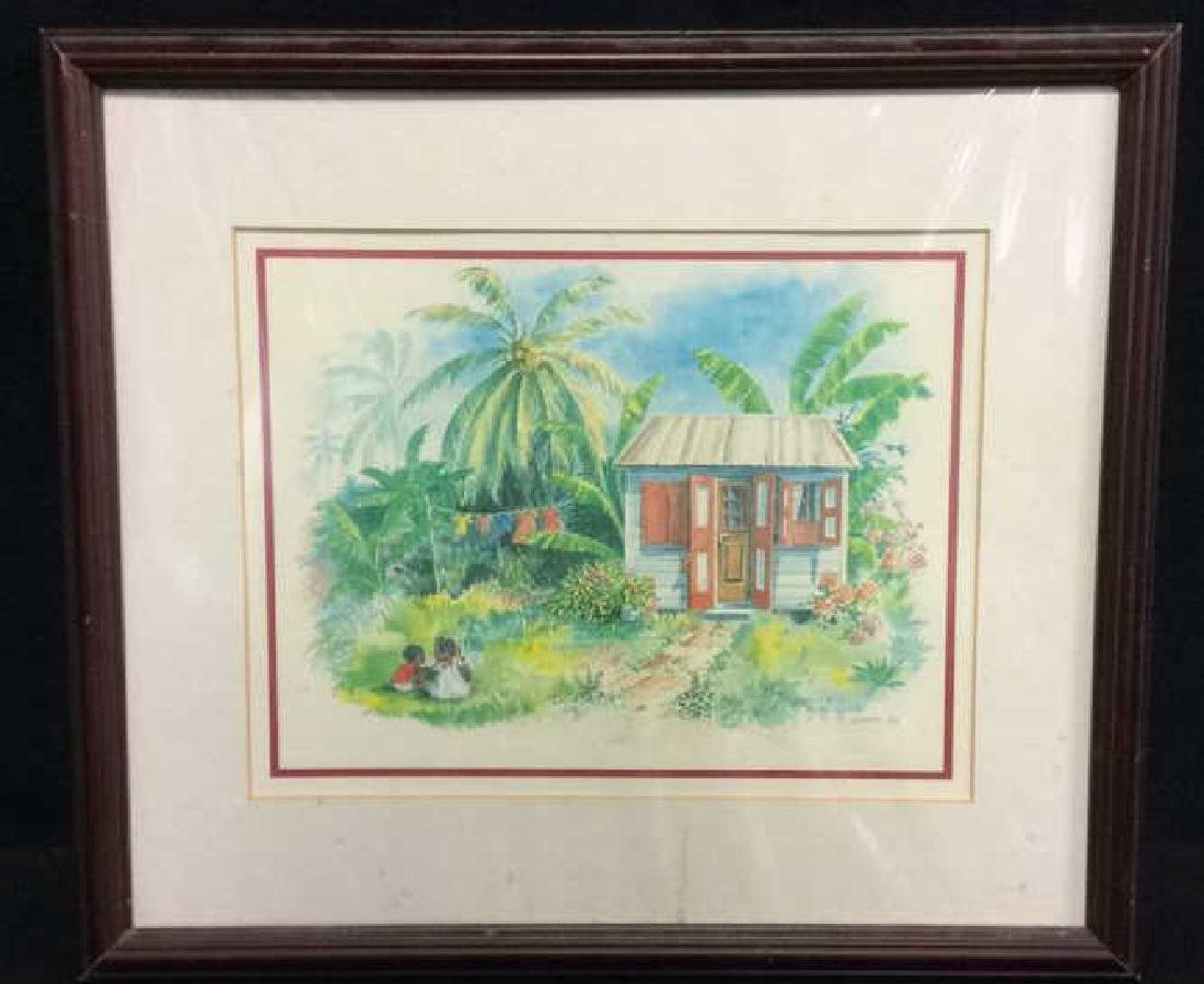 Framed and Matted Tropical theme Print