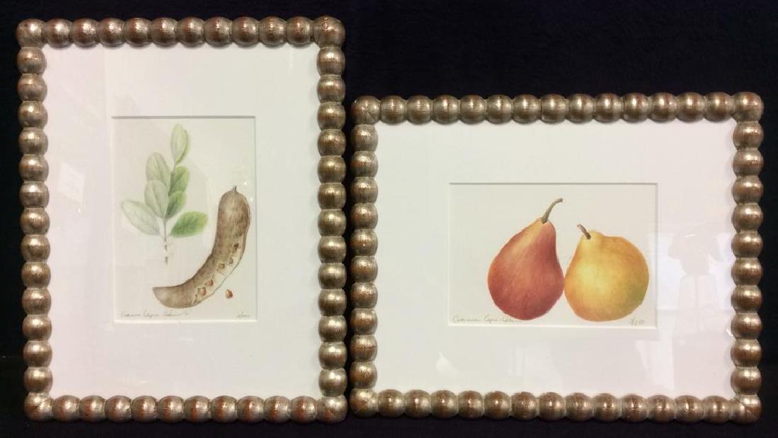 Set Framed & Matted Fruit Portrait Prints