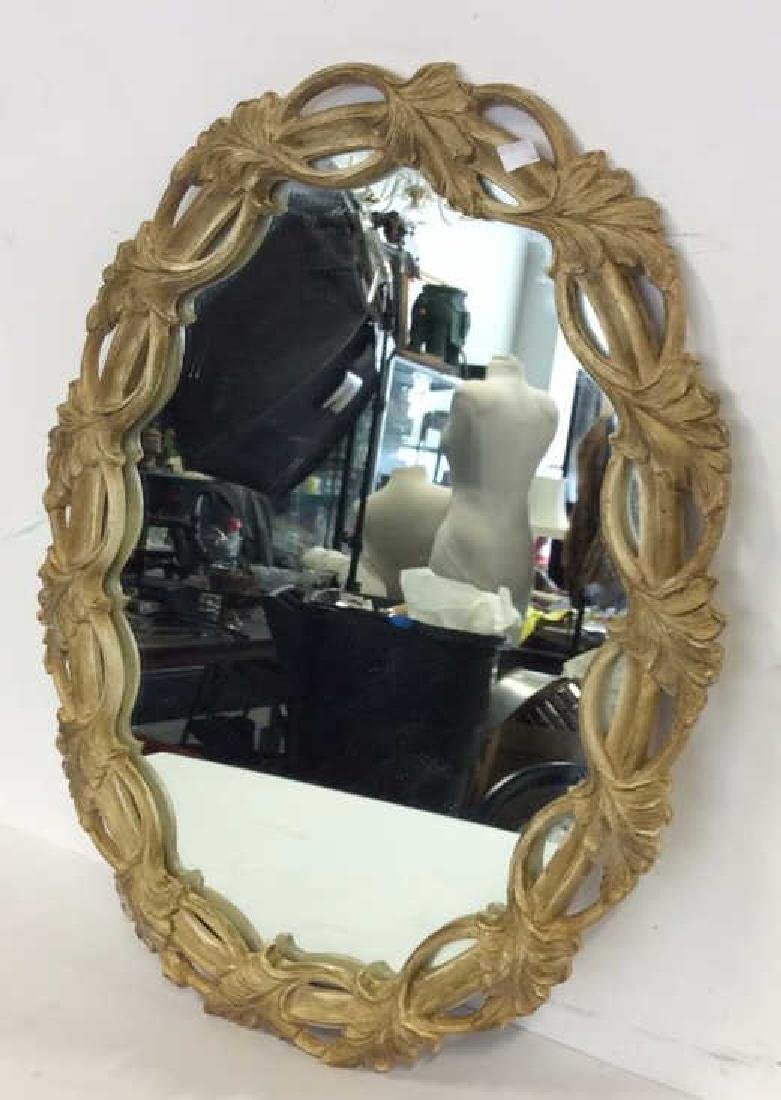 Carved Open Leaf Framed Mirror