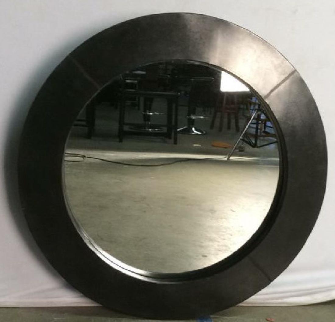 EMISSARY Black Metal Circular Frame Mirror