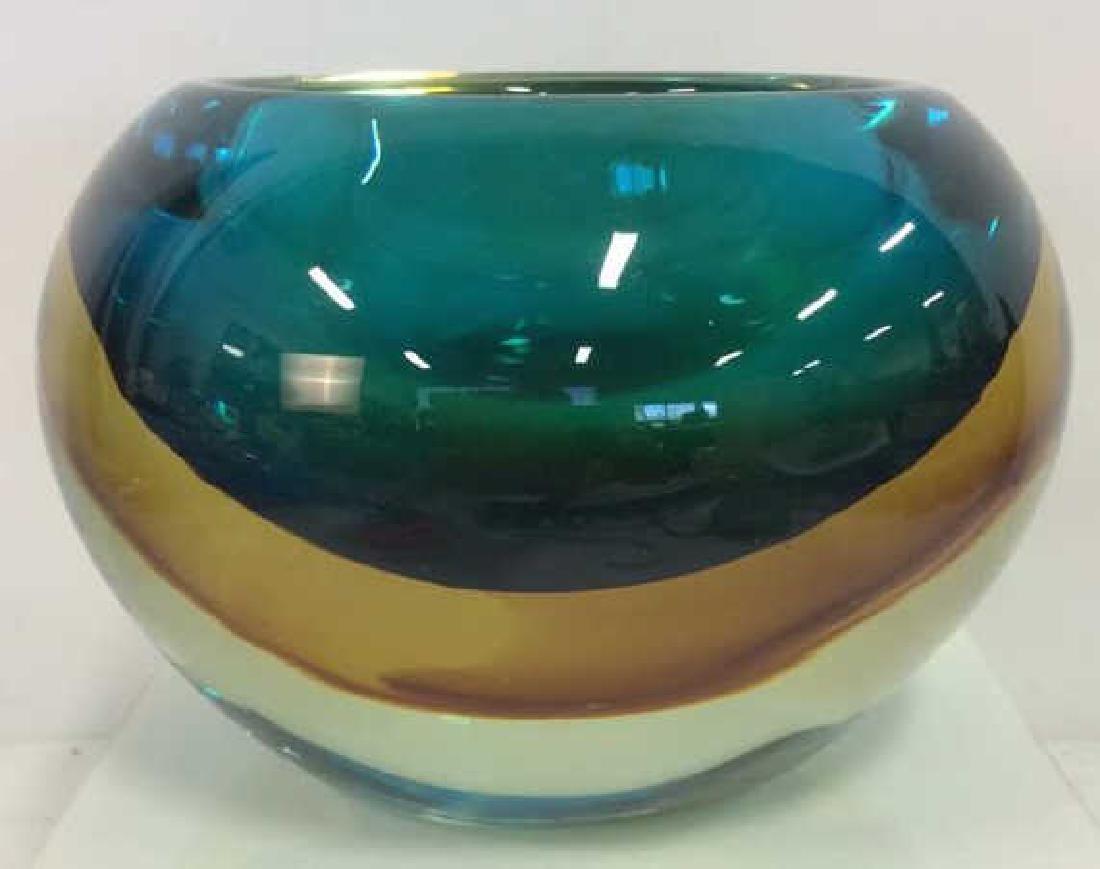 Mid Century Murano Sommerso Glass Bowl