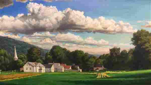 "Michele Harvey Oil On Canvas "" Hadley, MA"""
