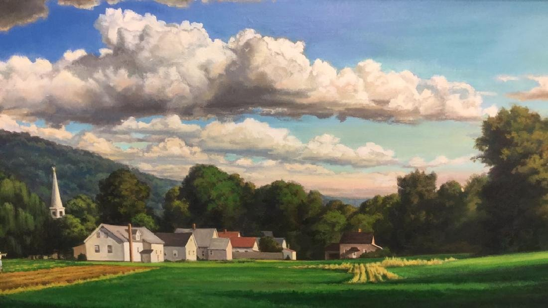 "Michele Harvey Oil On Canvas "" Hadley, MA"""