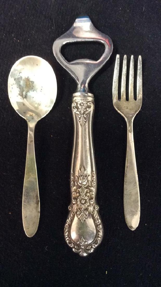 Lot 3 Sterling Tabletop Accessories