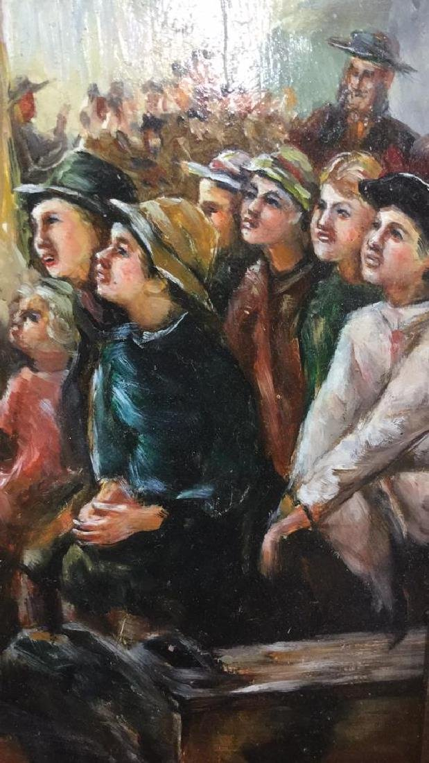 A Morse Signed Oil Children at A Show