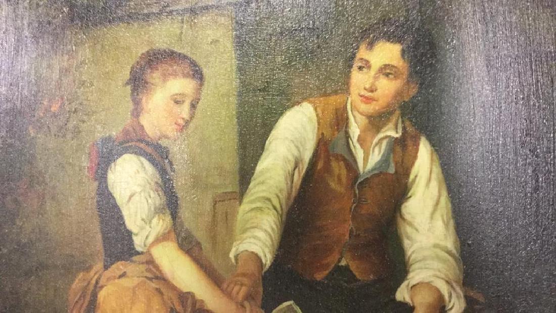 N. Bingham Signed Oil Painting Ornately Framed