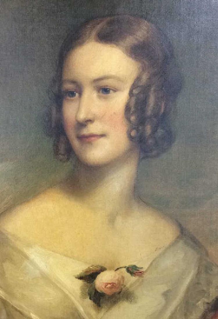 Antique Georgian Sir William Beechey Oil on Canvas