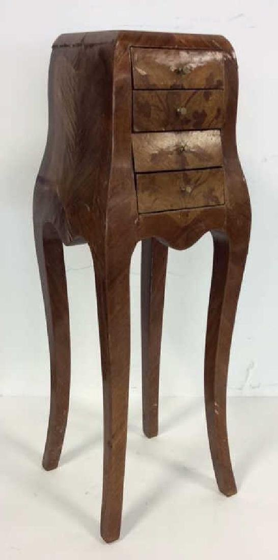 Antique Marquetry Inlaid Parquetry Small End Table
