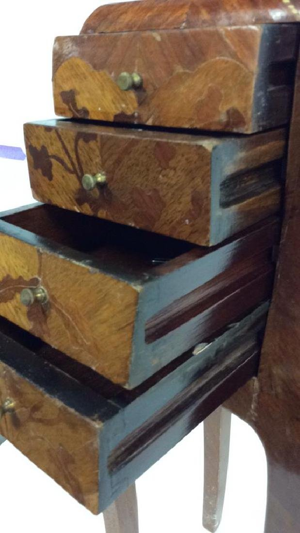 Antique Marquetry Inlaid Parquetry Small End Table - 7