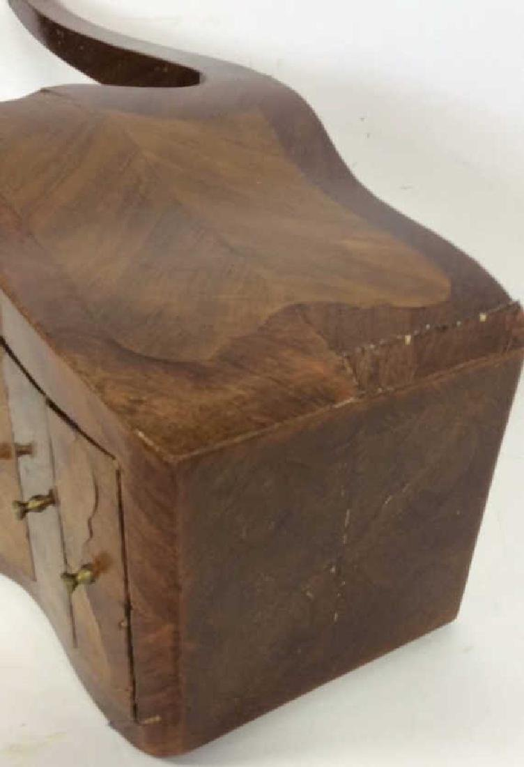 Antique Marquetry Inlaid Parquetry Small End Table - 9