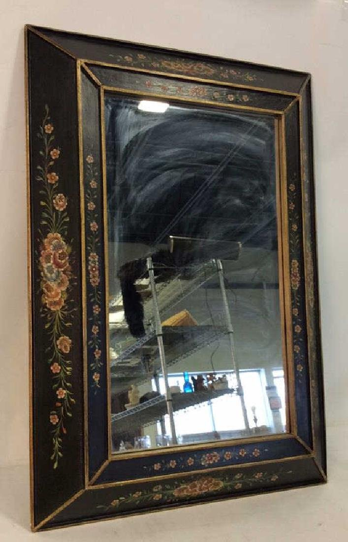 Black Toned Painted Wood Framed  Mirror
