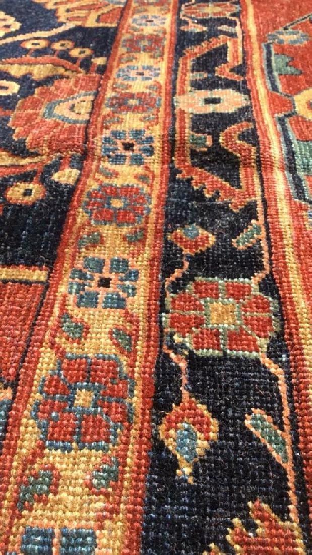Handmade Intricately Detailed Persian Wool Rug - 9