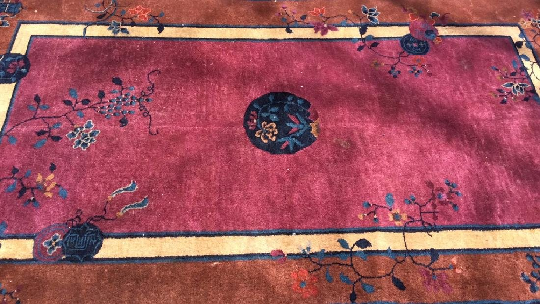 Handmade Chinese Art Deco Wool Rug