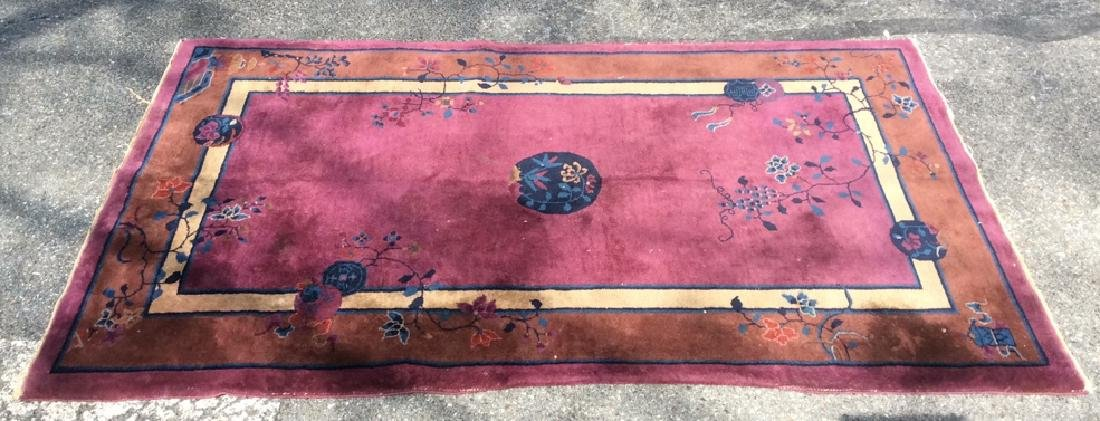 Handmade Chinese Art Deco Wool Rug - 2