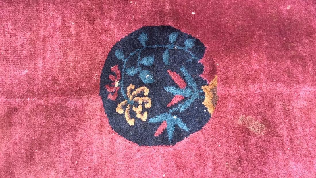 Handmade Chinese Art Deco Wool Rug - 3