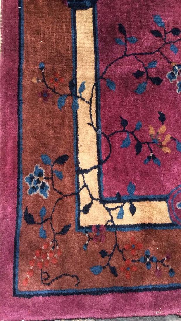 Handmade Chinese Art Deco Wool Rug - 5