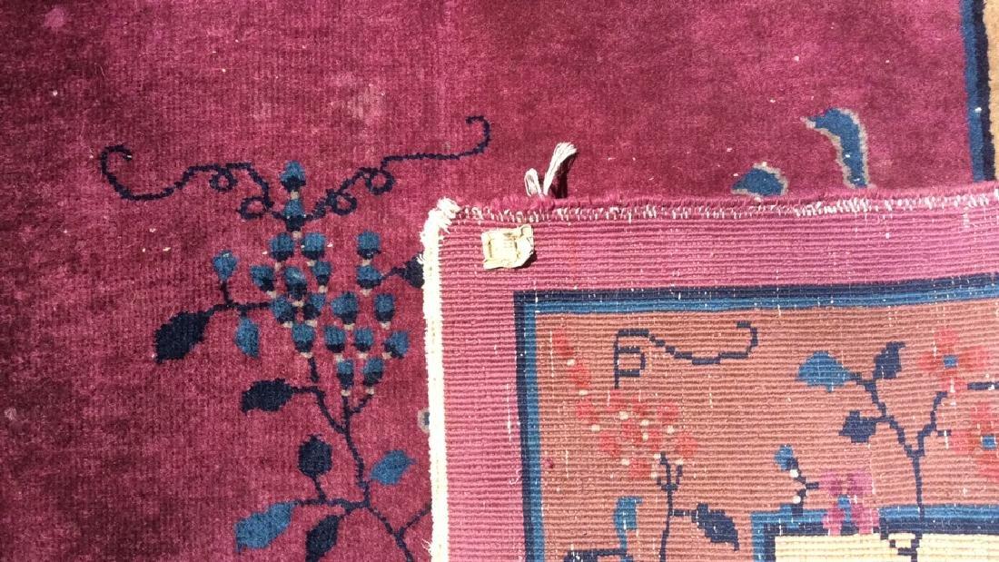 Handmade Chinese Art Deco Wool Rug - 7