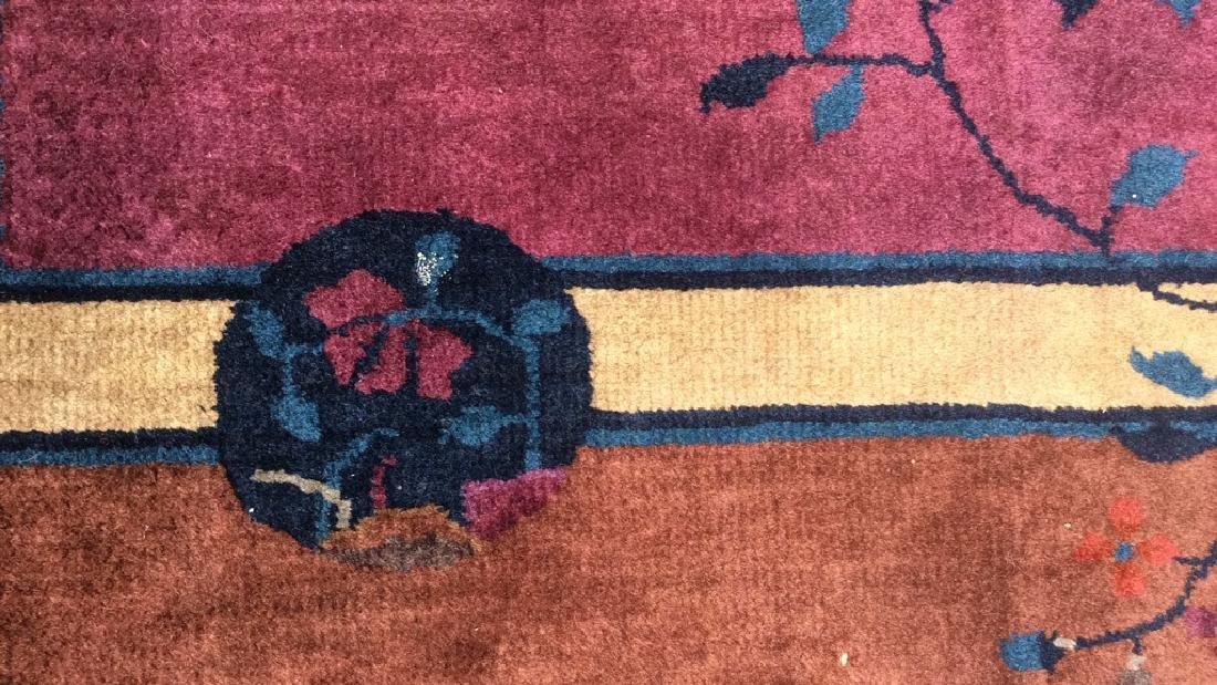Handmade Chinese Art Deco Wool Rug - 8