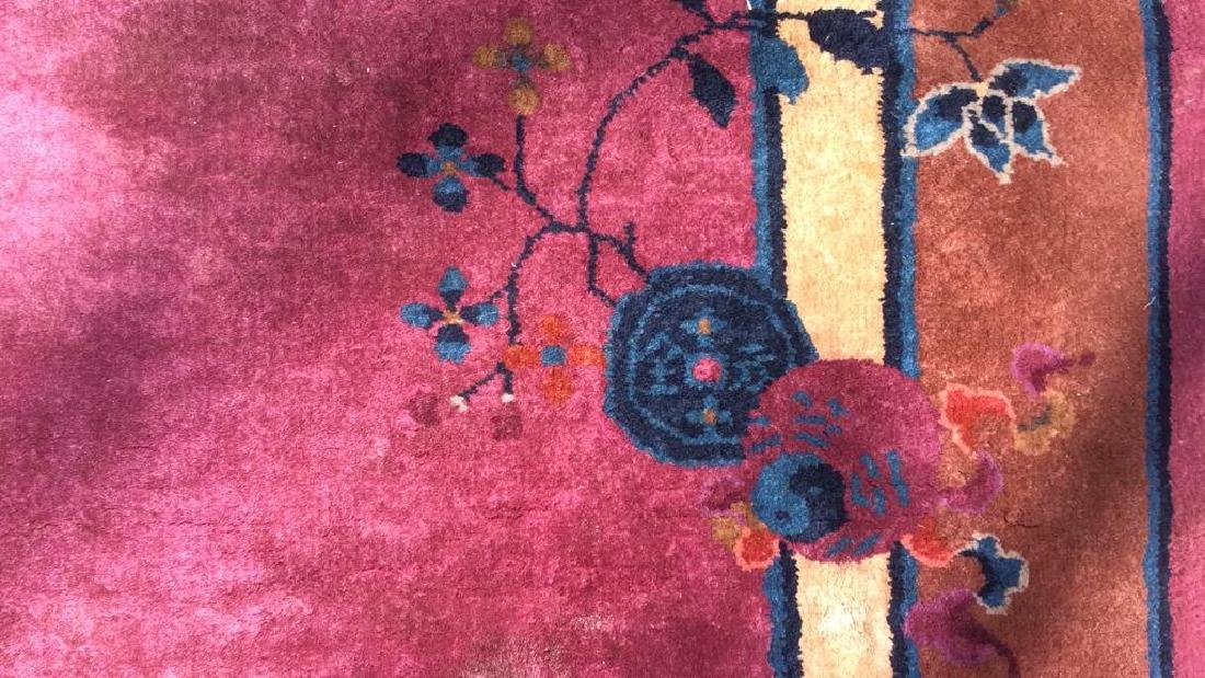 Handmade Chinese Art Deco Wool Rug - 9