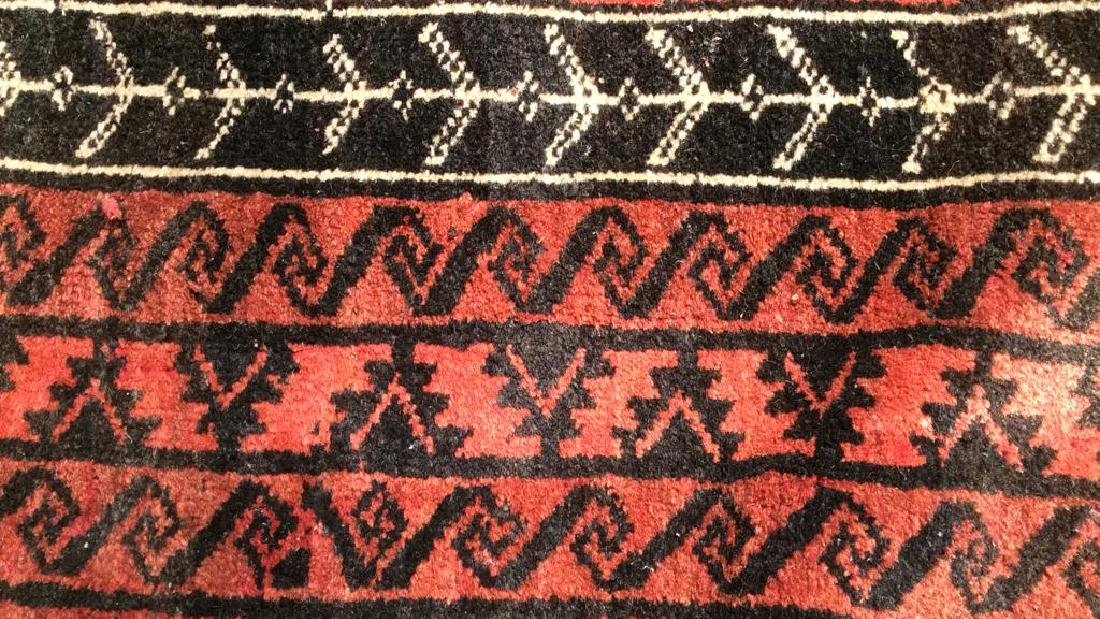 Antique Handmade Oriental Wool Rug W Fringes - 4