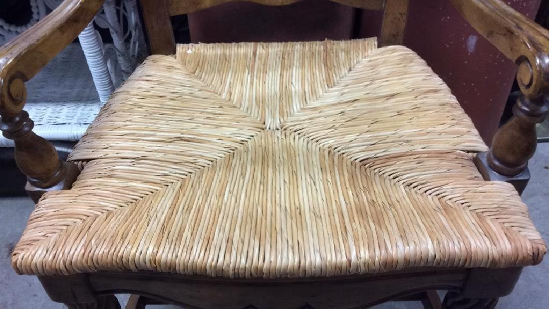 Set  6 Carved Wood French Dining Chairs - 3