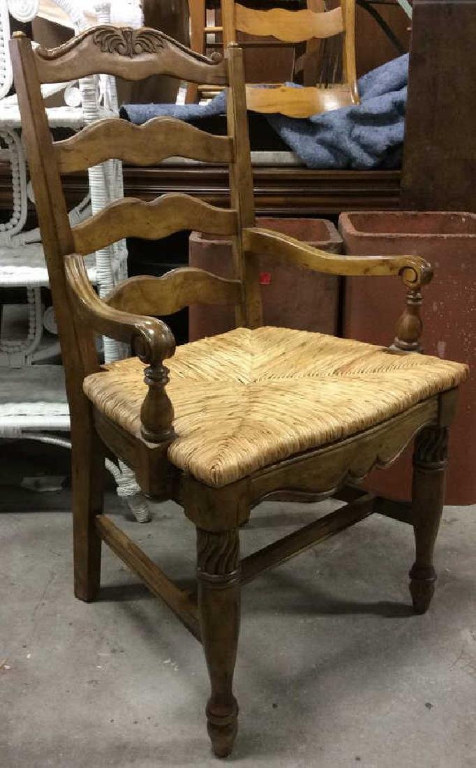 Set  6 Carved Wood French Dining Chairs - 6