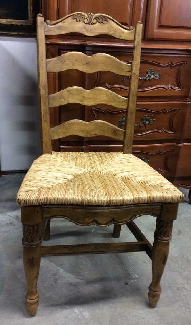 Set  6 Carved Wood French Dining Chairs - 9