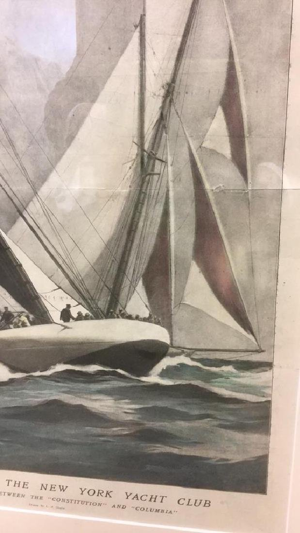 Editorial Nautical Print Of L.A. Shafer Drawing