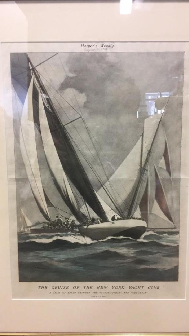 Editorial Nautical Print Of L.A. Shafer Drawing - 2