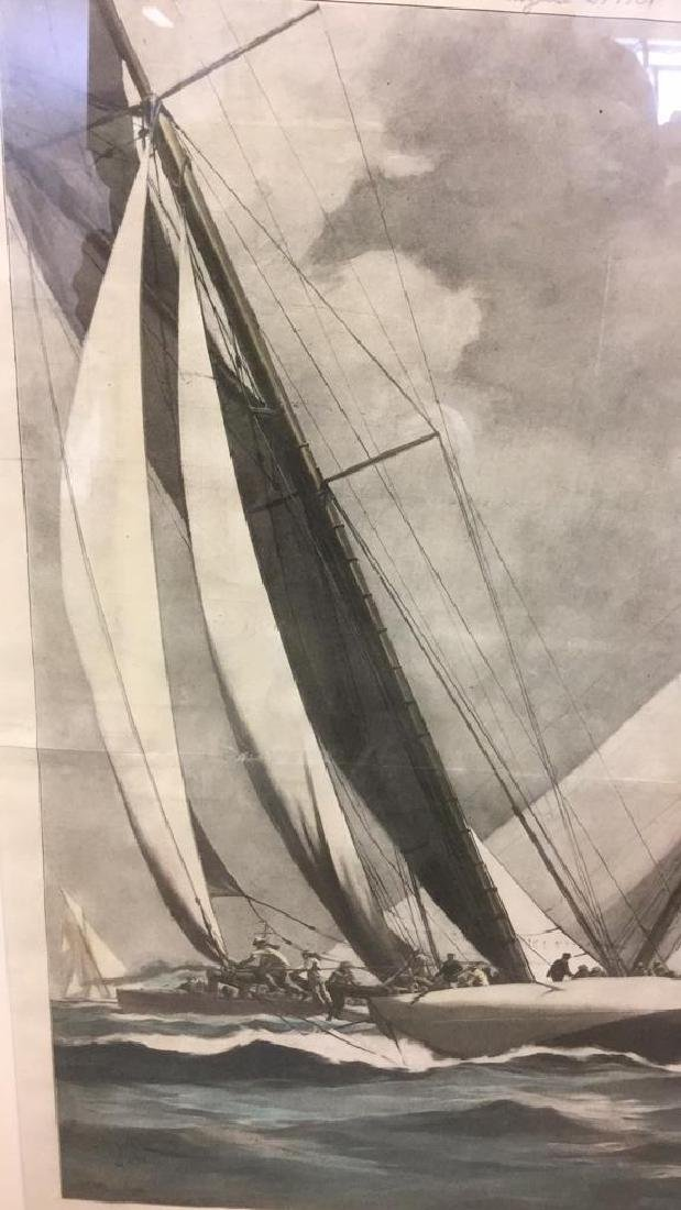 Editorial Nautical Print Of L.A. Shafer Drawing - 3