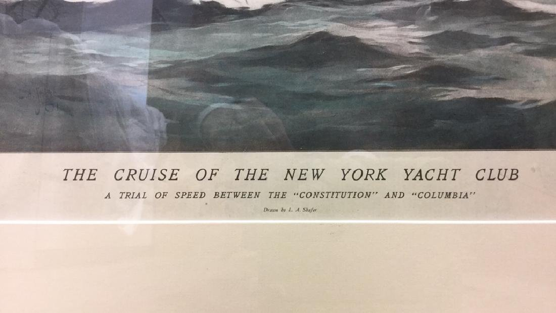 Editorial Nautical Print Of L.A. Shafer Drawing - 4