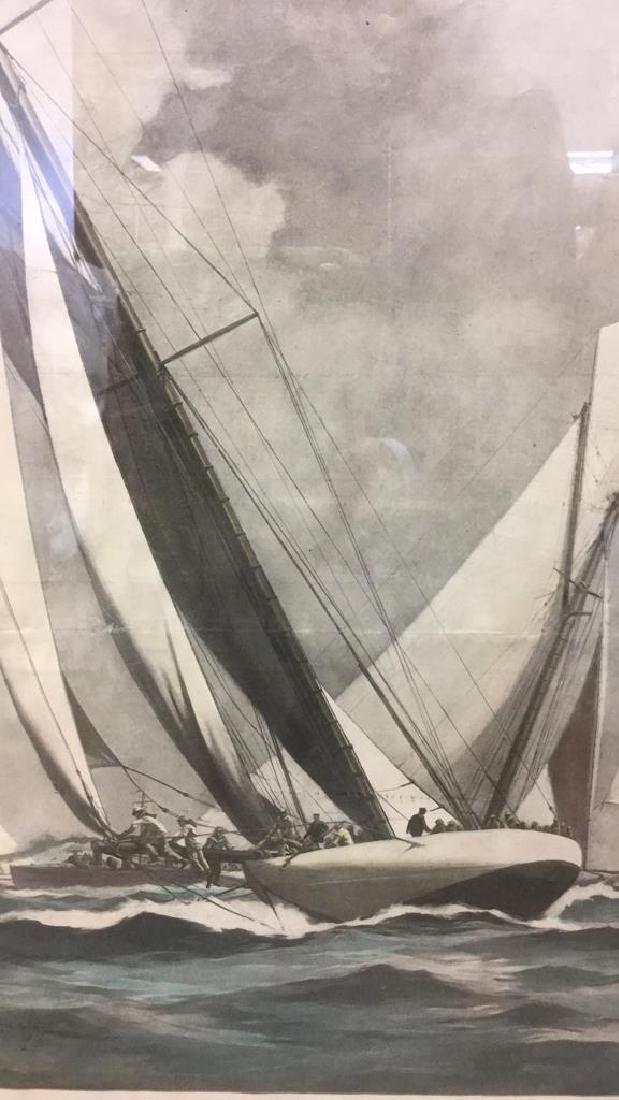 Editorial Nautical Print Of L.A. Shafer Drawing - 7