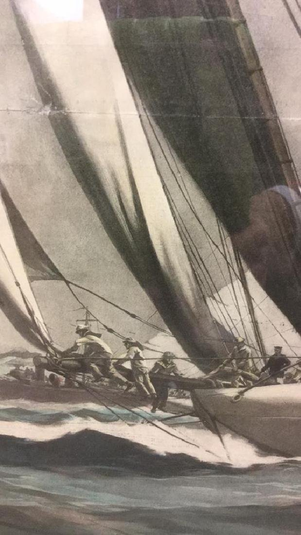 Editorial Nautical Print Of L.A. Shafer Drawing - 8