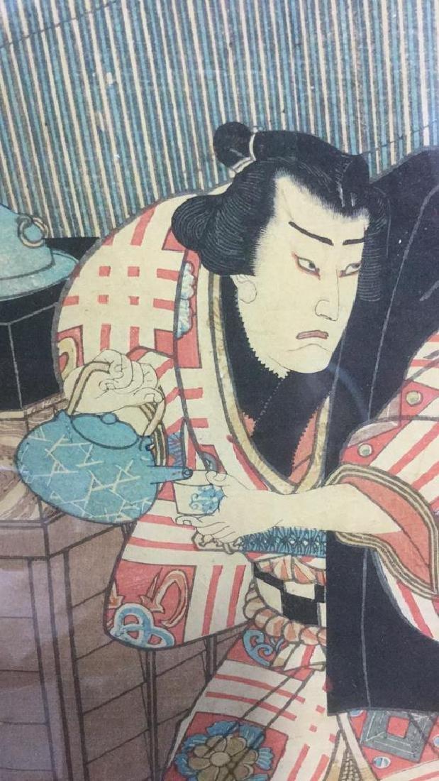 Framed Japanese Woodblock Print - 3