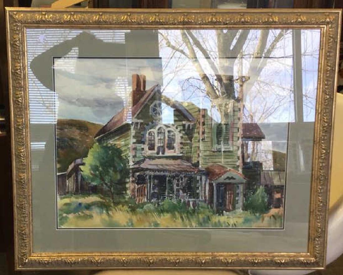 LUIS WOLCHONOK Framed Matted Watercolor
