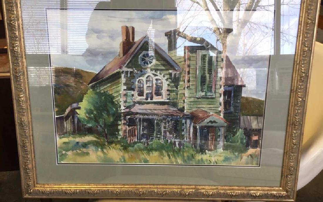 LUIS WOLCHONOK Framed Matted Watercolor - 2