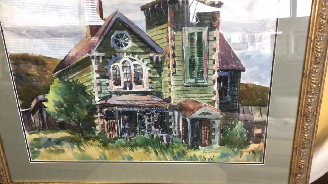 LUIS WOLCHONOK Framed Matted Watercolor - 3